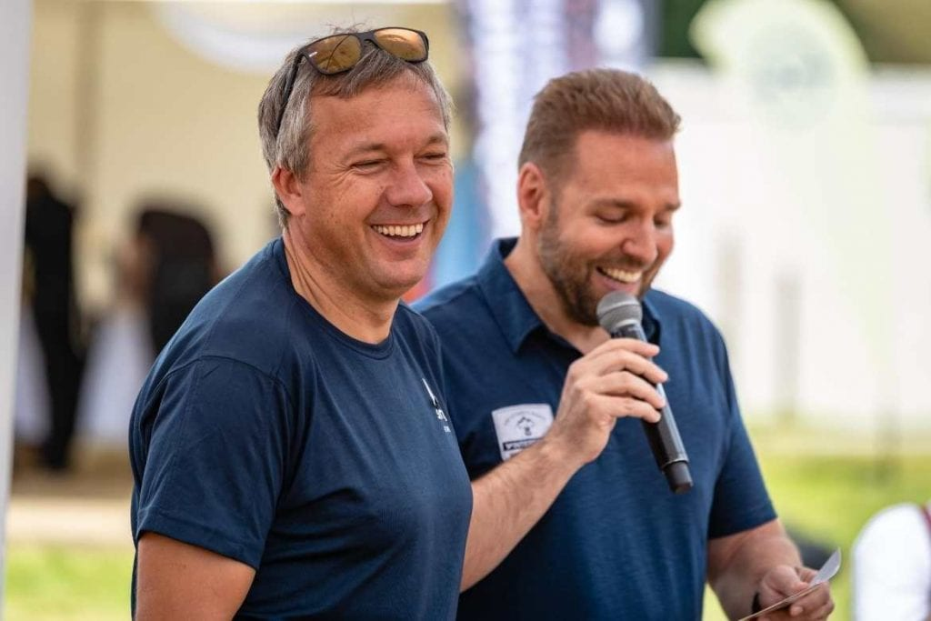 Ronny Leber and Fritz Strobl at the Intersport Wandertagen