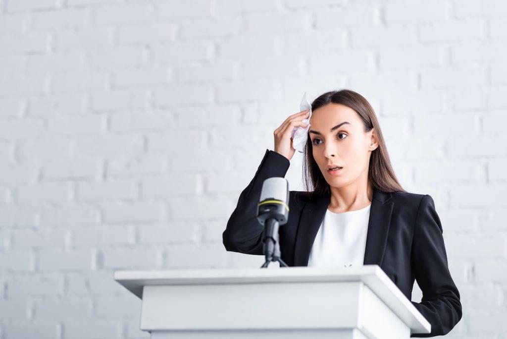 Public Speaking Stagefright